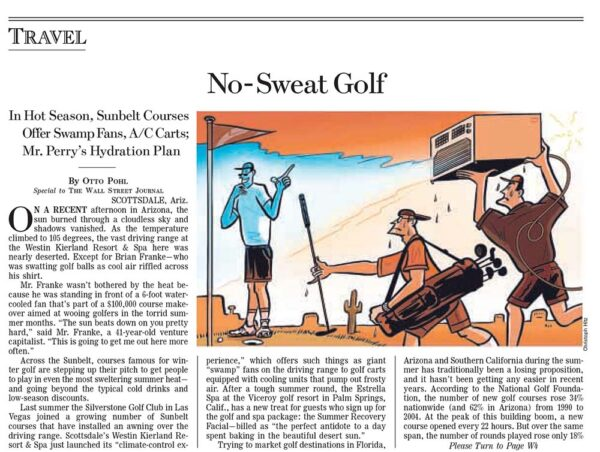 No-Sweat Golf
