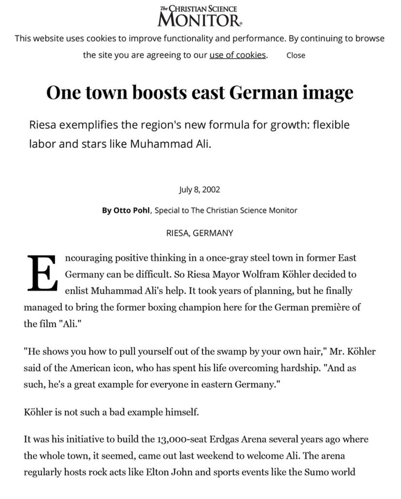 One Town Boosts East German Image