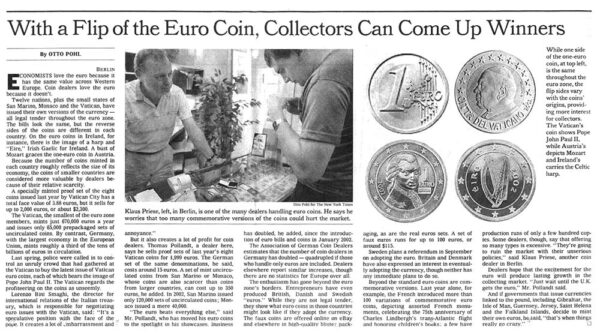 Euro Coin Collectors Can Come Up Winners