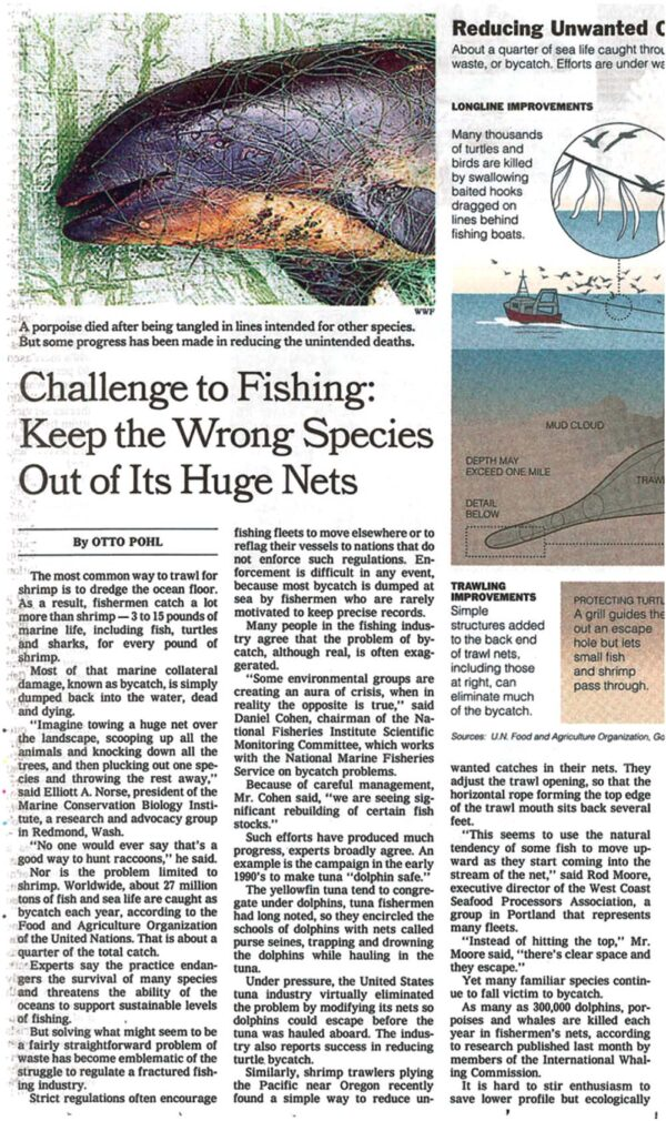 Challenge to Fishing: Keep UnwantedSpecies Species Out