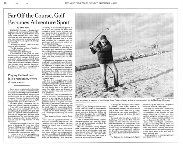 Far Off the Course, Golf Becomes Adventure Sport