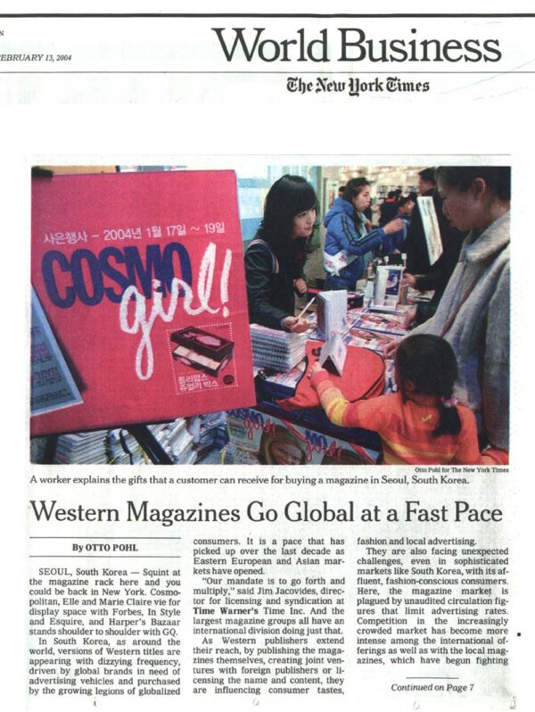 Western Magazines Go Global at a Fast Pace