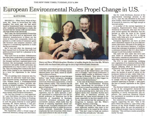 European Environmental Regs Propel Change in the U.S.