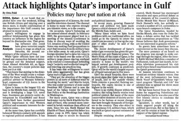Attack highlights Qatar's importance in Gulf