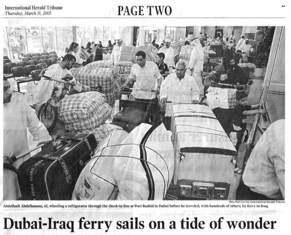 Dubai-Iraq ferry sails on a tide of wonder