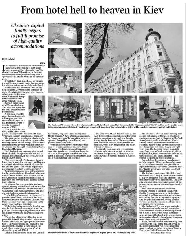 From hotel hell to heaven in Kiev